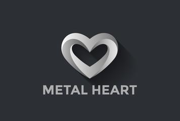 Heart Logo design vector. St. Valentine day of love symbol