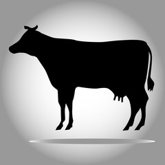 Black cow silhouette vector eps 10