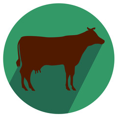 Cow Shop icon vector eps 10