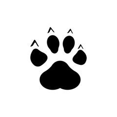 Paw Print icon vector illustration.