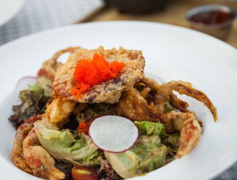 Soft Shell Crab Salad