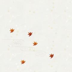 和紙 紅葉 流水文