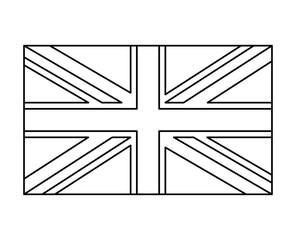 uk flag, england symbol outline vector symbol icon design.