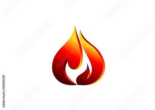 fire, flame, logo, red modern flame logotype, 3D hot fire logo