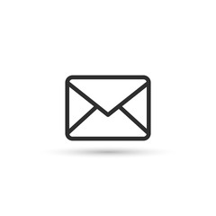 Mail envelope outline icon, minimal flat design style, vector.