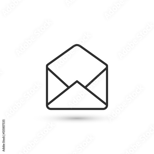 """""""Open envelope outline icon. Vector."""" Stock image and ..."""