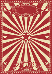 Vintage red circus