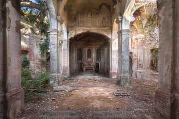 Abandoned Church in Decay.