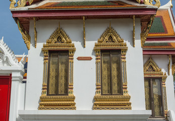 Wat Benchamabophit is a Buddhist temple known as the marble temple in Bangkok Thailand