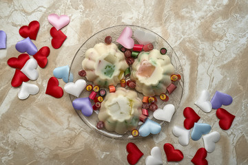 valentine jelly dessert candy hearts