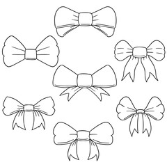 vector set of bow