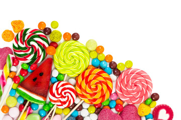 Wall Mural - Colorful candies and lollipops
