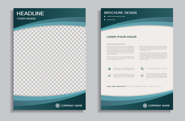 Flyer design template, front and back brochure page
