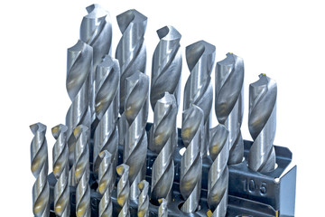 Set of drill bits for metal