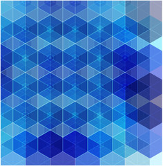 Geometric mosaic pattern, abstract vector background illustration. Hexagon geometric design.