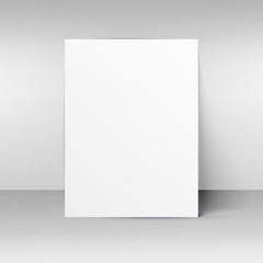 blank paper mockup placed on wall