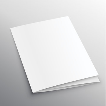 trifold mockup design in perspective