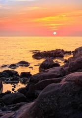 calm sunrise over the sea shore