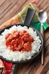 rougail saucisse et riz basmati 7