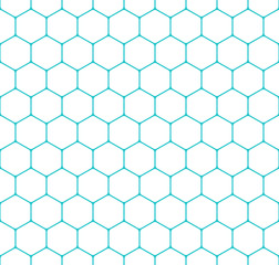Seamless Pattern Honeycomb Hexagon Shapes