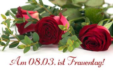 Rosen zum Frauentag
