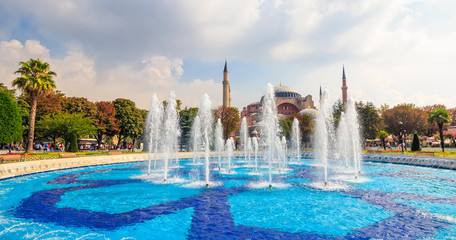 Fontain near Sophia basilica museum in Istanbul