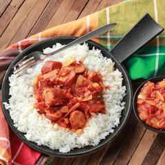 rougail saucisse et riz basmati 4
