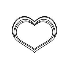 Heart and love ornament icon vector  illustration  graphic design