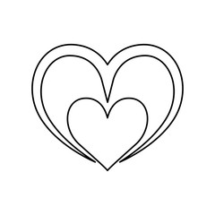 Heart and love ornament icon vector  illustration  graphic design