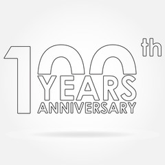100 years anniversary sign or emblem template for celebration and