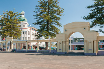 The New Napier Arch and Dome in Napier city New Zealand