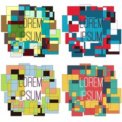 Bright  frames for your design. Color squares. Suprematism. Vector Illustration.