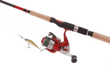 Fishing rod with a reel