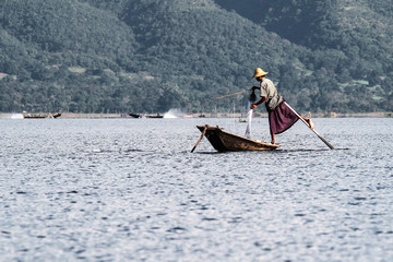 Myanmar - Burma - Fischer am Inle See