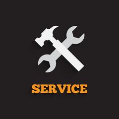 Vector service icon. Service background