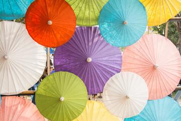 colorfull of umbrellas in thailand
