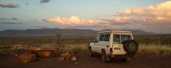 Outback Australia: Lookout at Cockburn Ranges at sunset, Kimberley, WA