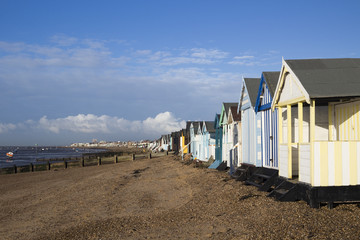Beach Huts at Thorpe Bay, Essex, England
