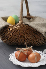 easter, egg, nest ,background ,colourfuls, pring ,holiday,wooden, decoration ,colours