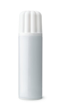 Front view of blank whipped cream can