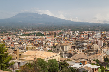 A view over own of Paterno, Sicily island, Italy