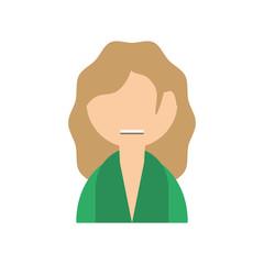 people hippy man icon image, vector illustration design
