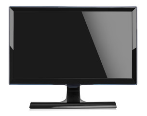 Computer monitor isolated on white background.
