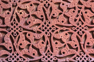 Background oriental decoration on stone of India