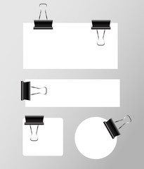 Paper collection with paperclips vector