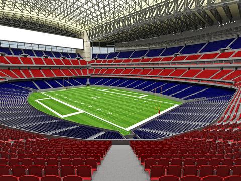 3D render of modern American football super bowl lookalike stadi