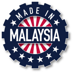Made in Malaysia flag color stamp