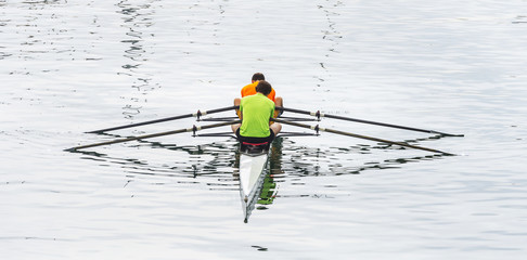 Two seat rowing boat