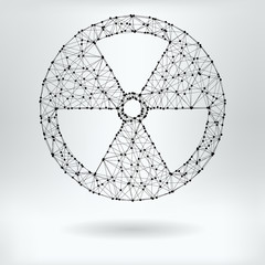 Vector Net Symbol of Radiation  Hazard
