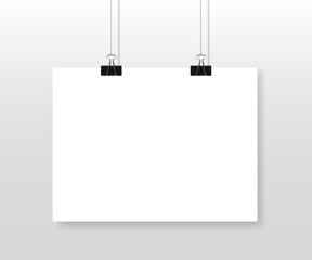 Paper poster blank template